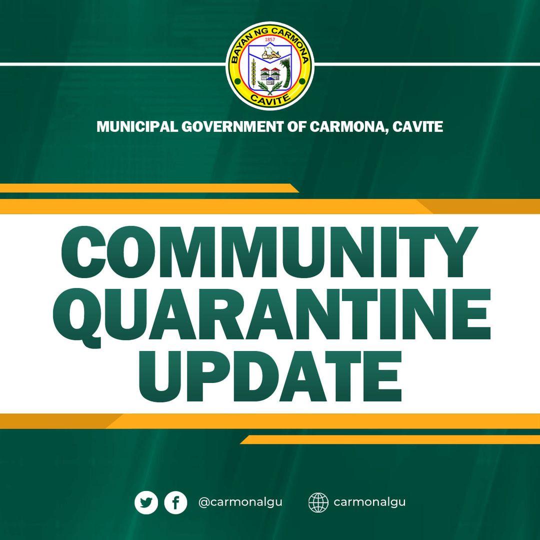 COMMUNITY QUARANTINE UPDATES [MARCH 30, 2021]